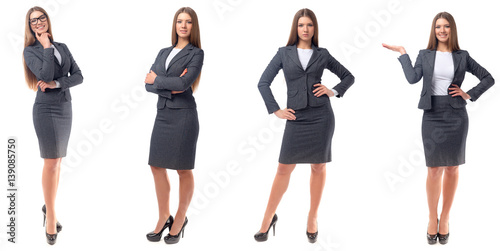 Fotografía  Collection of full length portraits of businesswomen
