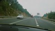 video footage of driving on a highway in Spain