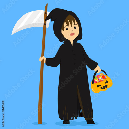 Photo  Halloween grim reaper costume