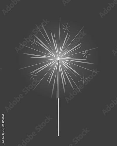 Fototapety, obrazy: Bengal Light, Fire, Firework Sparkler Isolated