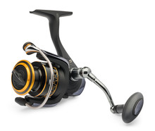 Fishing Reel On A White Backgr...