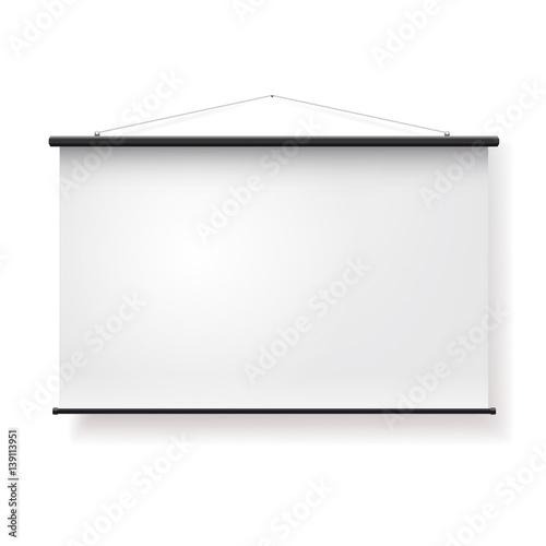 Fotografía  Blank realistic portable projection screen