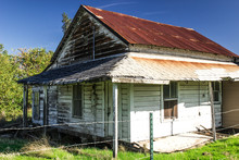 Old Tin Roof Building In Disrepair