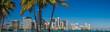 canvas print picture - Miami daylight Skyline Panorama