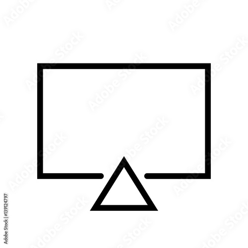 Photo Essential Icons - Airplay(Outline)