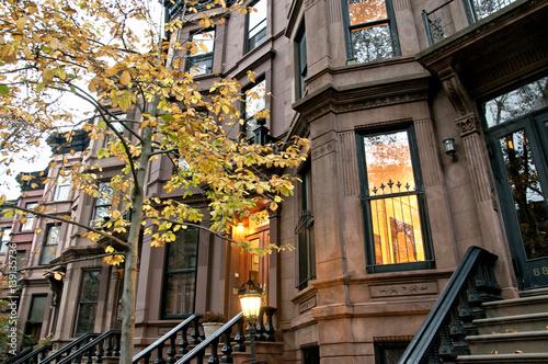 Residential buildings in Brooklyn borough, New York City