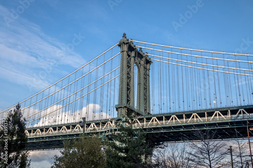 Manhattan Bridge seen from Dumbo in Brooklyn - New York, USA Poster