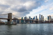 Brooklyn Bridge and Manhattan Skyline - New York, USA
