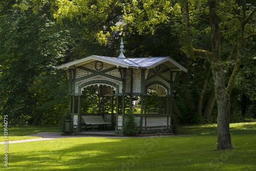 Obraz na płótnie Pavilions at the Lichtentaler Allee, Baden-Baden, Baden Wuerttemberg, Germany