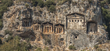 Kaunian Rock Tombs In Hellenistic Style Close