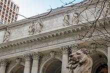 New York City Public Library In Manhattan - New York, USA