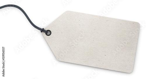 Photo  Anhänge-Etikett - Karton weiß strukturiert