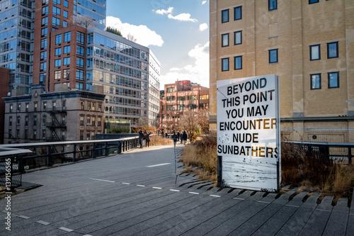High Line Park - New York, USA Poster