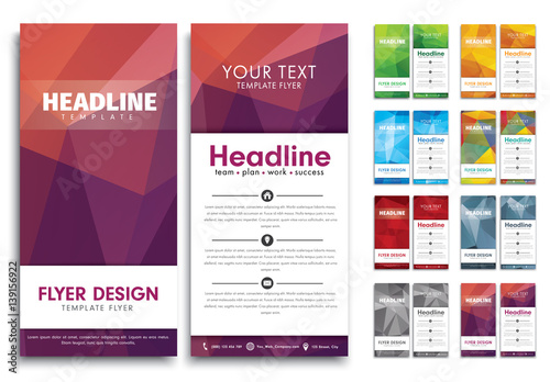 8 slim sized flyer layouts buy this stock template and explore