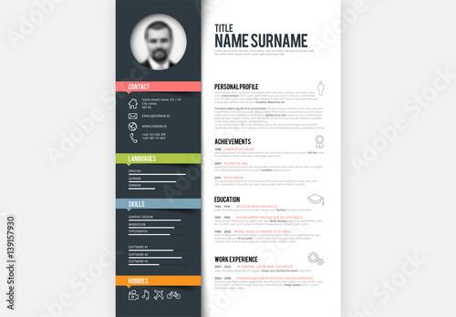 digital resume layout