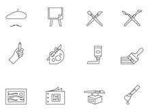 Outline Icons - Painting Artis