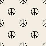 bezszwowe tło wzór znak pokoju monochromatyczne - 139180771
