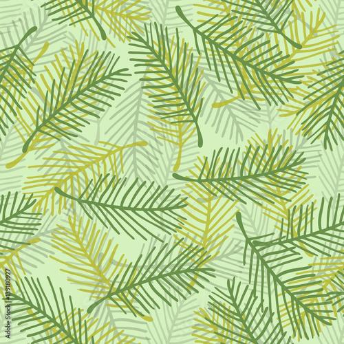 Ingelijste posters Tropische Bladeren seamless hand drawn palm leaf pattern background