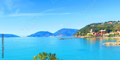 Canvas Prints Liguria View of San Terenzo, Liguria, Italy