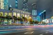 traffic road through modern city in China.
