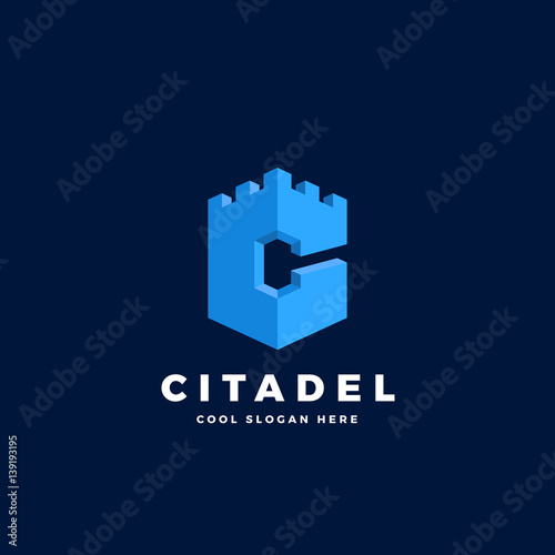 Citadel, Castle or Tower in the Form of Letter C Fototapet