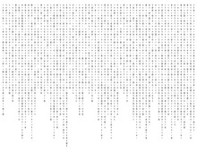 Binary Code Zero One Matrix White Background Beautiful Banner Wallpaper