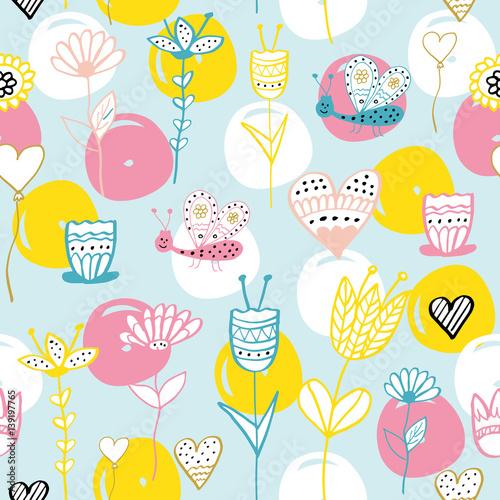 Cotton fabric Children's pattern