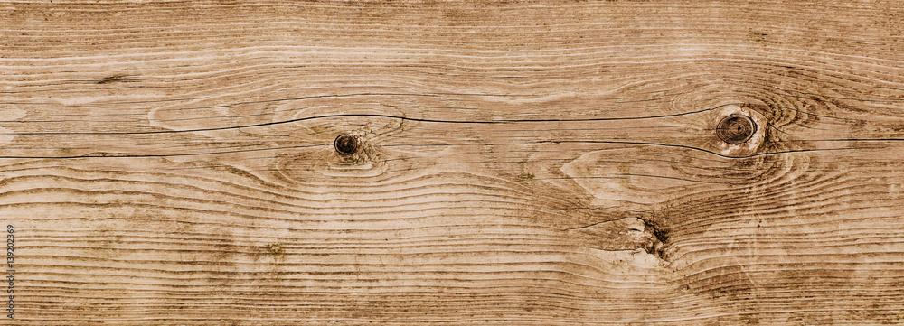 Fototapeta Braunes Holzbrett mit Holzstruktur, Holz, Holzmaserung