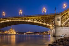 Margaret Bridge In Budapest, Hungary.