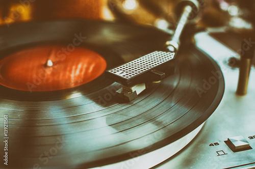 Fotografía Retro record player.