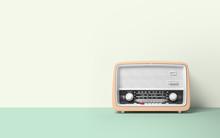 Vintage Antique Retro Old Radio On Background