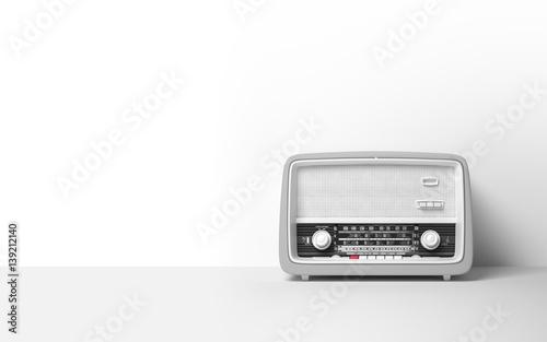 Fotomural Vintage antique retro old radio on background