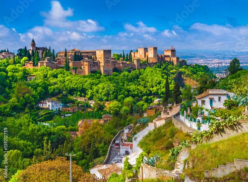 Alhambra palace,  Granada, Andalusia, Spain. Wallpaper Mural