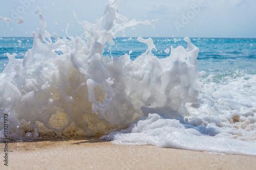 Stickers pour porte Eau sea wave splash