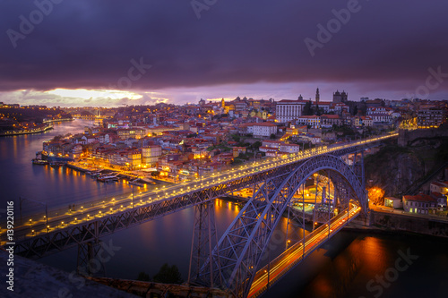 City on the water City view from Oporto by night
