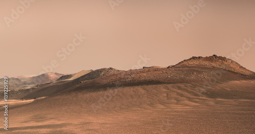 Poster Nasa Planet Mars fictional landscape