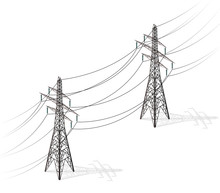 Vector High Voltage Pylons On ...