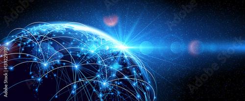 Global network World - fototapety na wymiar