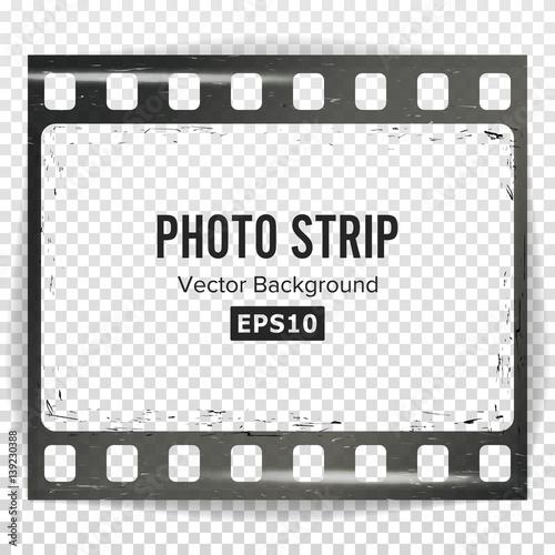 Photo Strip Vector. Realistic Empty Frame Strip Blank. Grunge ...