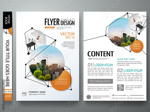 Portfolio Design Template Vector Minimal Brochure Report Business Flyers Magazine Poster Abstract Black Point And Line Network Shape On Cover Book