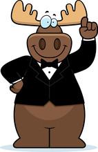 Cartoon Moose Tuxedo