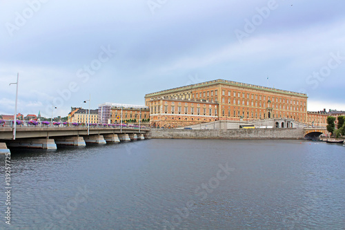 Photo  View of Stockholm Royal Palace in Gamla Stan, Sweden