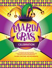 Festive Mardi Gras Carnival Ma...