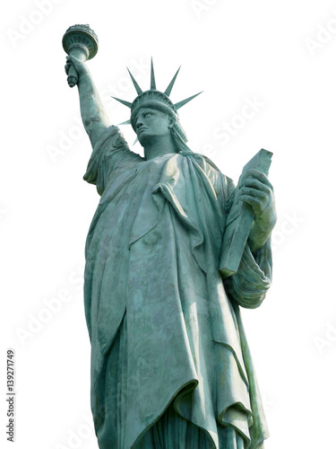 Photo Statue of Liberty isolated on white