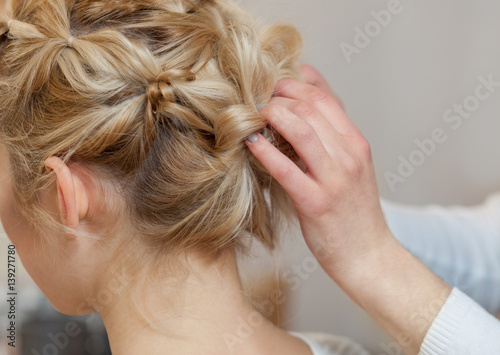 Astonishing Beautiful Blonde Girl With A Beautiful Neat Hairstyle Close Up Natural Hairstyles Runnerswayorg