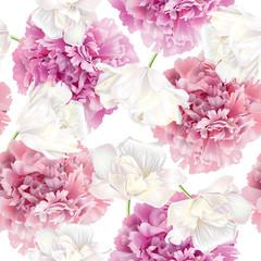 FototapetaPeony tulip pattern