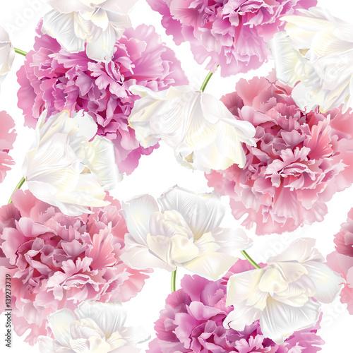 Peony tulip pattern - 139273739