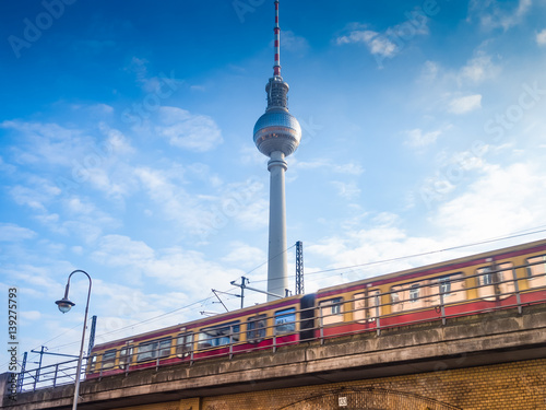 Beautiful view of the TV Tower in Berlin Poster