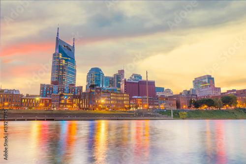 Fototapety, obrazy: Nashville, Tennessee downtown skyline