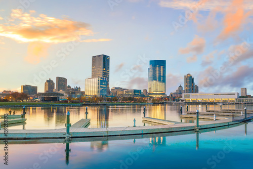 Spoed Foto op Canvas Verenigde Staten Milwaukee skyline